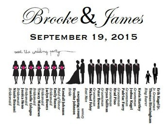 60 Personalized Wedding Programs