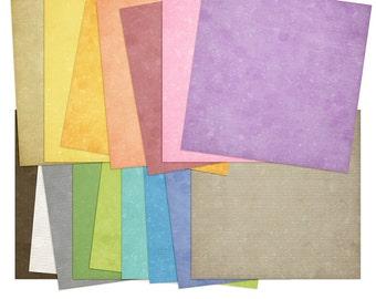 Planner Linen: Digital Scrapbooking Papers