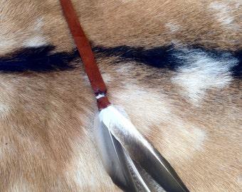 Buckskin Leather Feather Earring