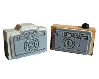 Vintage Wooden Camera Stamps