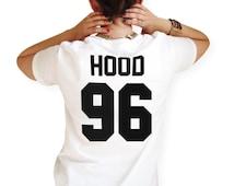 Hood 96 // Unisex T-Shirt // White Black Grey // S M L XL
