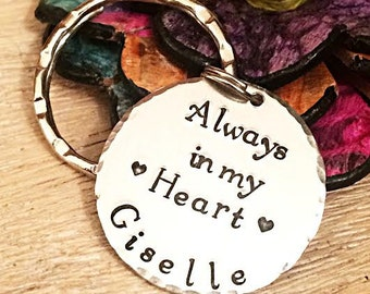 Loss of Child, Loss of Friend, Loss of Father, Loss of Mother, Always in my Heart, Hand Stamped Memorial Gift, Sympathy Gift, Remembrance