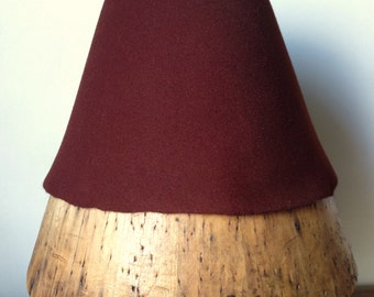 Millinery weight Fur Felt Hood - Cherrywood
