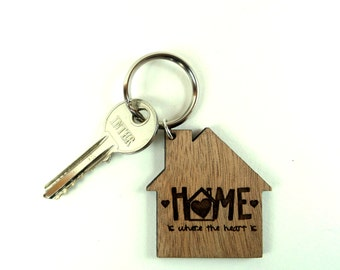 Home is where the heart is - keychain - keyring