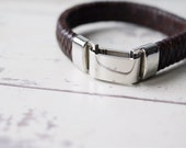Mens Bracelet  Personalised Mens Leather Bracelet  Mens Leather Bracelet  FREE ENGRAVING