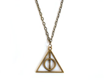 Bronze Deathly of Hallows necklace