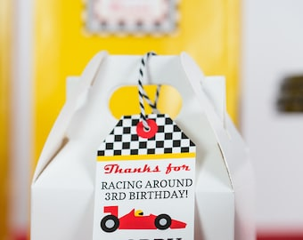 Race Car Favor Tag - Printable Racing Party Favor Tags by Printable Studio