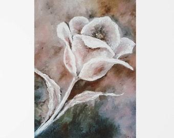 Print from flower painting, Tulip print, Flower print art, Tulip art, Flower print wall art, Fine art print, Artwork print, Floral art print