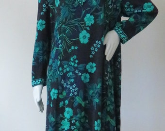 Vintage Averardo Bessi Silk Blend Psychedelic Print Tent Dress Plus Size Size XL