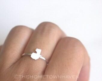 Guatemala Ring - I heart Guatemala ring, Guatemala love ring, Dainty rings, Guatemala map ring