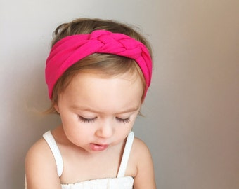 Sailor Knot Headband in Fuchsia Pink Baby/Toddler Sailor Knot