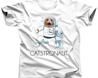 Cat Astronaut Shirt - Funny Cat Shirt - Cat Pun Shirt - Catstronaut - Astronaut Costume - Astronaut Party - Astronaut Birthday - Astronomy