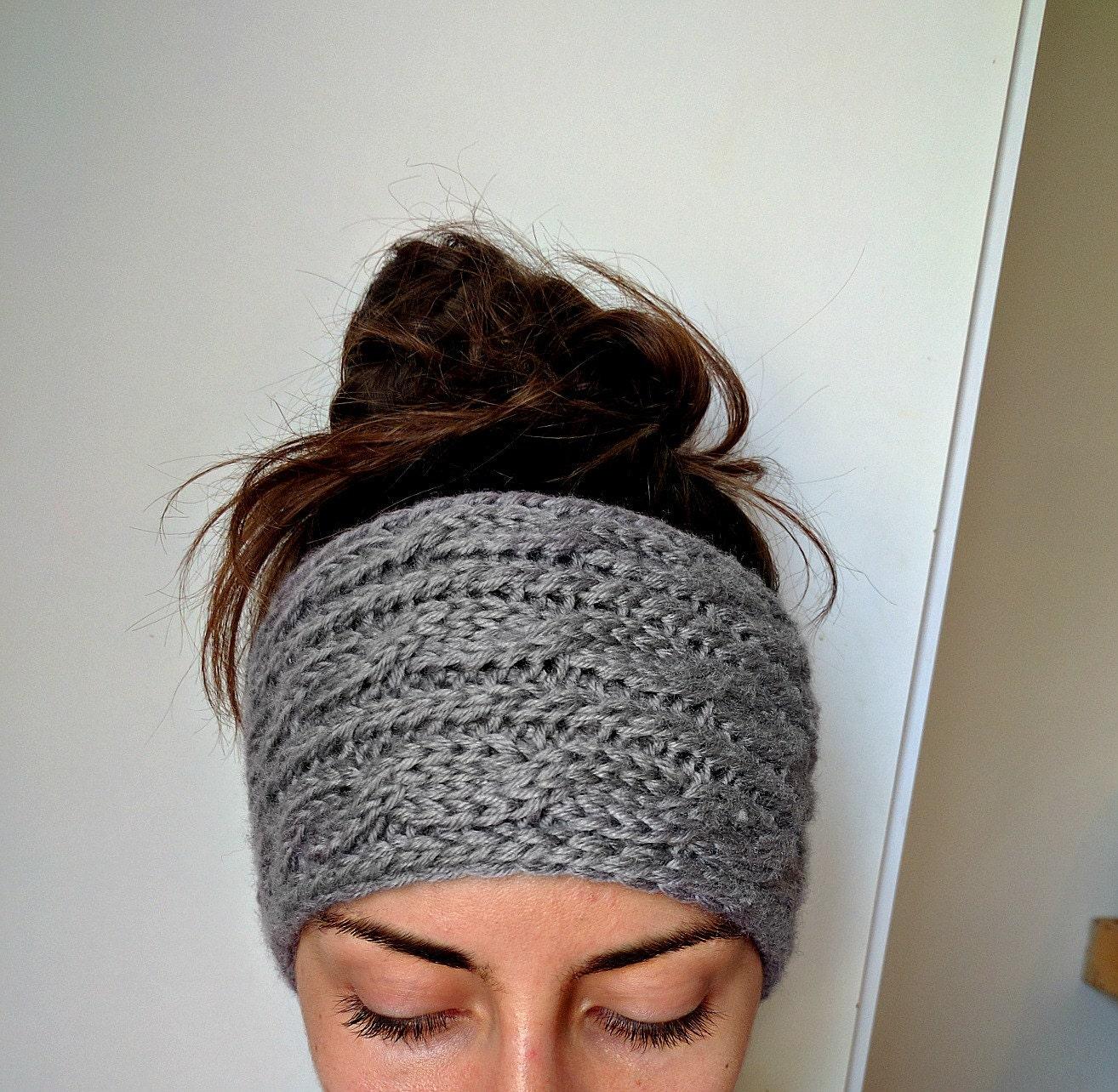 Chunky Cable Knit Ear Warmer Thick Knit Headband Ear Warmer