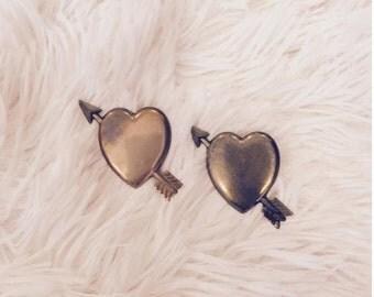 Antique Heartstruck Pins (Set of 2)
