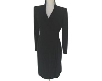 Emanuel Ungaro Paralelle Ruched Illusion Wrap Dress