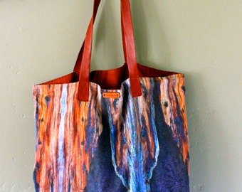 The Carry-All Tote Bag- Burnt