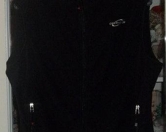 SALE Vintage 90's Womens Obermeyer Black Fleece Snow Ski Vest XL