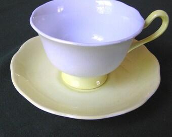 Royal Albert Pastella Cup & Saucer - Pale Blue, Yellow