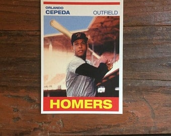 Orlando Cepeda Card/ Homer's Cookies #2/ San Francisco Giants Hall of Famer!/ NM Condition!!!