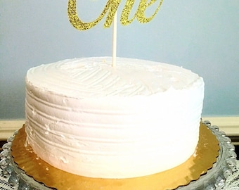 One Glitter Cake Topper, Birthday Cake Topper, Any Age Cake Topper, Two, Three, Thirty, Forty, Twenty One, Various Colors