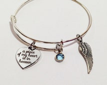 Memorial Jewelry, In Loving Memory Of Mom, Dad, Grandpa, Baby Loss, Child Loss, Sympathy Gift, Adjustable Bangle Bracelet, Memorial Bracelet