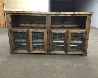Rustic Wooden Entertainment Center with Storage, Sideboard, Cabinet