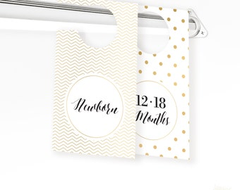Gold Baby Closet Dividers - Baby Clothes Divider - Closet Organizer - Baby Shower Gift