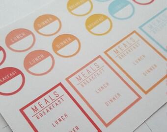 Meal Planner Menu Stickers