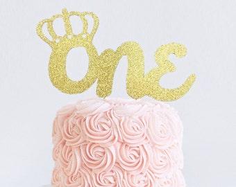 Birthday Crown Cake Topper, Tiara Cake Topper, First Birthday, Princess Cake Topper, Princess Birthday Decoration, Age Topper, 1st Birthday