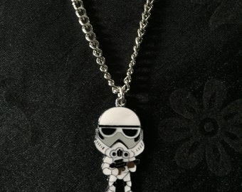 Silver Plated Star Wars Storm Trooper Necklace