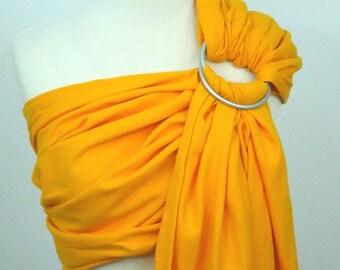 Broken twill ring sling - 100% organic cotton- Saffron yellow