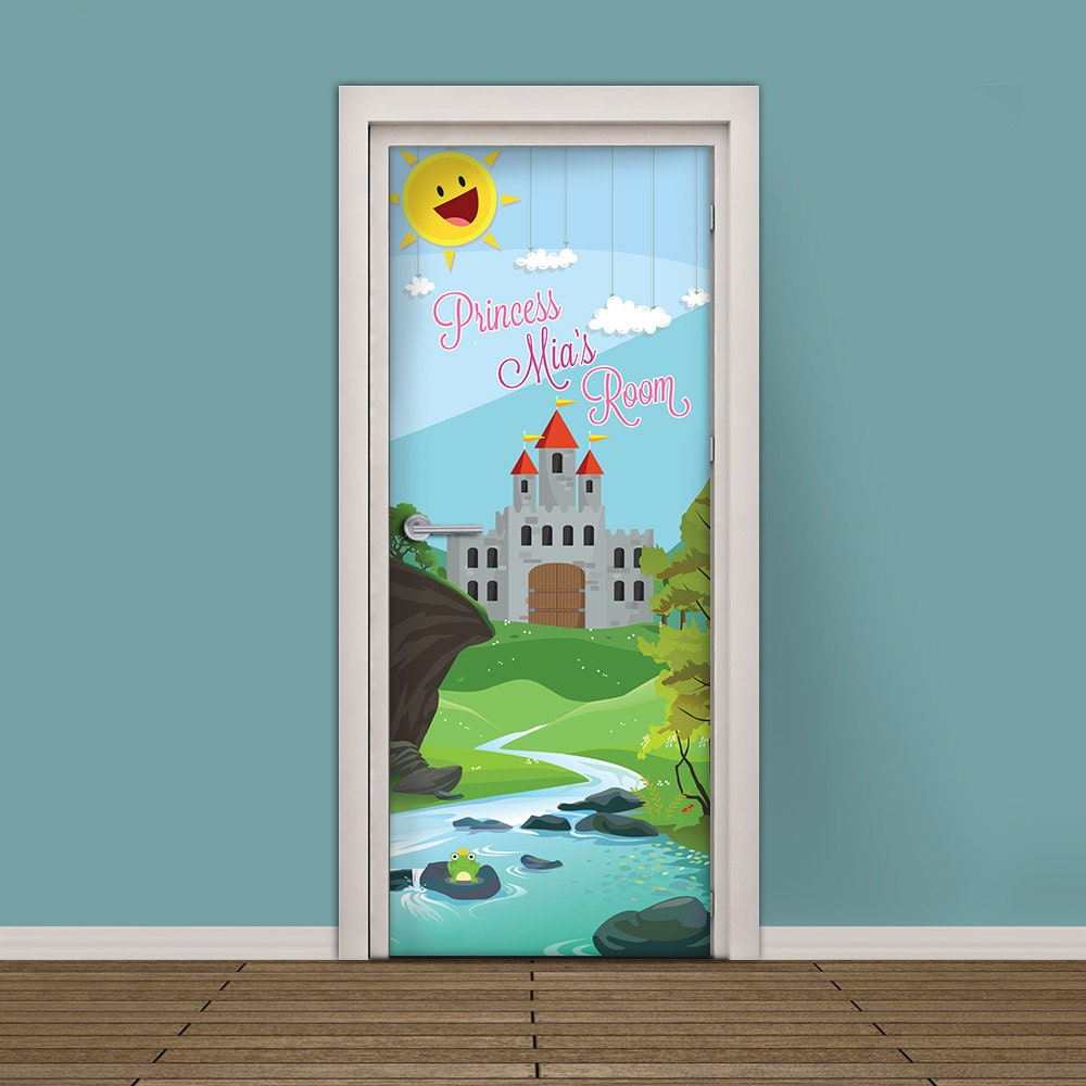 kids door sticker self adhesive vinyl wallpaper door wrap kids door sticker customizable vinyl wallpaper adhesive decal princess castle room with your
