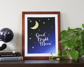 Good Night Moon Print