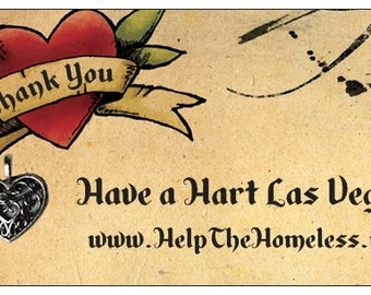 500 Custom Help The Homeless Thank You Cards