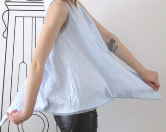 Extravagant V-Neck Triangle Top /  Deconstructed V-Neck Top / Minimalist Top by FabraModaStudio / T704