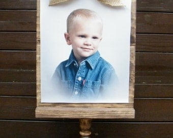 Photo Display/Rustic Frame/Photo Frame/8x10 Frame/Rustic Home Decor/Clothespin Frame/Photo Stand