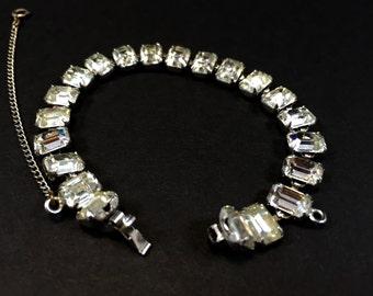 Rhinestone Bracelet, Art Deco Rhinestone, Vintage Art Deco, Art Deco Bracelet, Vintage Rhinestone, 1920s Bracelet, Roaring 20s Bracelet