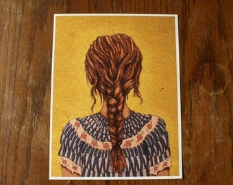 Braid, Original art print