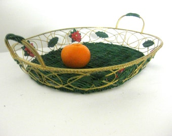 Antique basket primitive wire string West Germany Royal basket FIL DE FER design-modern metal wire basket Rack Kunst fruit basket