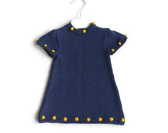 Navy blue baby dress