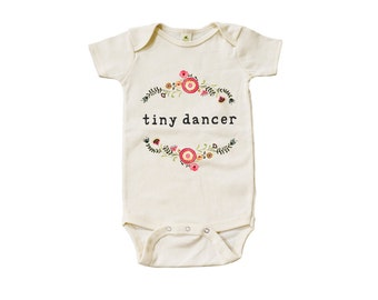 "Organic ""Tiny Dancer"" Unbleached Snappie / Bodysuit"