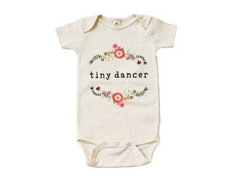 "Organic ""Tiny Dancer"" Unbleached Snappie / Bodysuit"