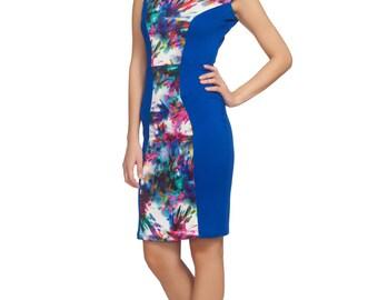 Floral Sleeveless, Spring Dress, Boho Wedding, Spring Wedding, Summer Wedding, Mini Dress, Fitted Dress, Bodycon Dress, Knee Length Dress