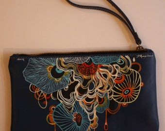 Purse personalized leather bag LEATHER HANDBAG