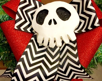 LIMITED TIME SALE - Jack Skellington Skull - Nightmare Before Christmas Decoration - Haunted Mansion - Unique and Hand Sculpted