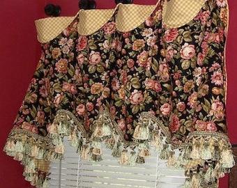 Beautiful Curtain Valance - Made To Order - Custom!!!!  So Nice!!!