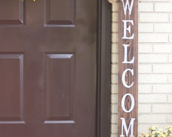 WELCOME Front Porch Wooden Sign, Welcome Sign, Front Porch Sign
