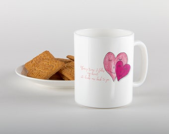 Two Hearts, Coffee Mugs, Cup,Love,Tea Cup, gift,husband,wife,quote,quotes