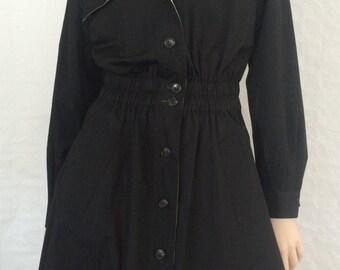 Bogner, coat / black / nude / vintage / 1990s / size: S - M
