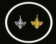 Bee Charm, Little Bee Charm, Bumblee Bee, Honey Bee Charm, Gold Bee, Silver Bee, Bracelet Charms, Necklace Charms, Dainty Bee Charm